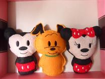 Chaveiro Mickey Minie Pluto