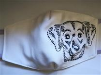 Mascara tecido personaliza Dog