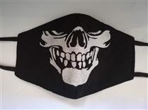 Mascara tecido personalizada esqueleto
