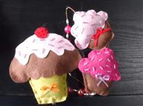 Mobile de cupcakes coloridos 3