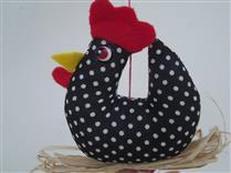 Mobile de galinha da angola preto branco