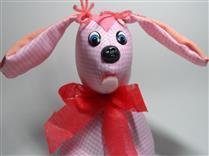 Peso de porta cachorro cor de rosa