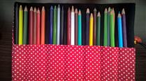 Porta lápis em tecido