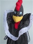 Puxa saco de galinha preta