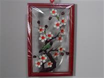 Quadro de metal flor cerejeira P